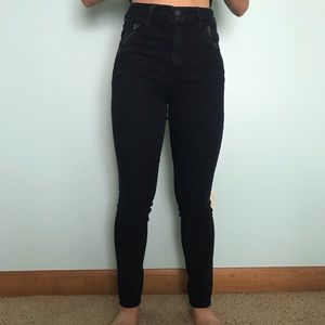 High waisted Abercrombie and Fitch jeans